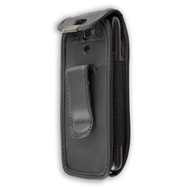 caseroxx Ledertasche mit Gürtelclip für Swisstone SC560 aus Echtleder, Handyhülle für Gürtel (mit Si
