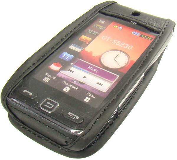 caseroxx Leather-Case with belt clip for Samsung GT-S5230 Star made of genuine leather, mobile phone cover in black