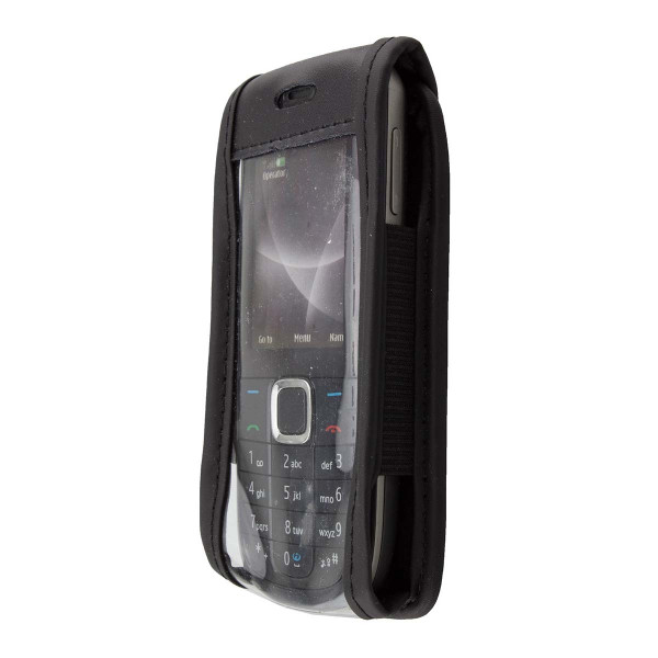 caseroxx Leather-Case with belt clip for Nokia 3120 Classic made of genuine leather, mobile phone cover in black