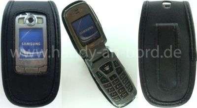 caseroxx Ledertasche mit Gürtelclip für Samsung SGH-E700 SGH-E710 SGH-E720 aus Echtleder, Handyhülle