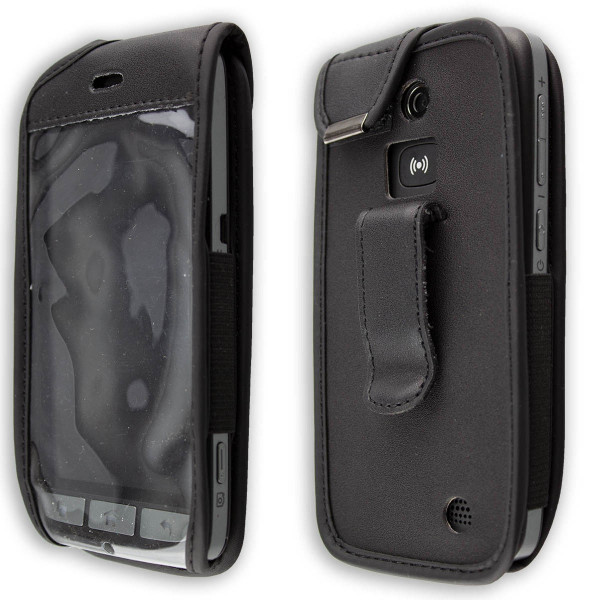 caseroxx Leather-Case with belt clip for Doro Liberto 822 made of genuine leather, mobile phone cover in black