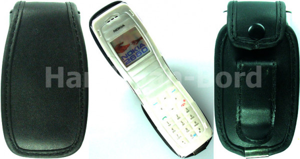 caseroxx Leather-Case with belt clip for Nokia 2650 und 2652 made of genuine leather, mobile phone cover in black