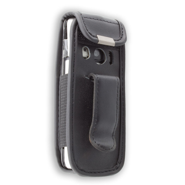 caseroxx Leather-Case with belt clip for Nokia 6700 Classic made of genuine leather, mobile phone cover in black