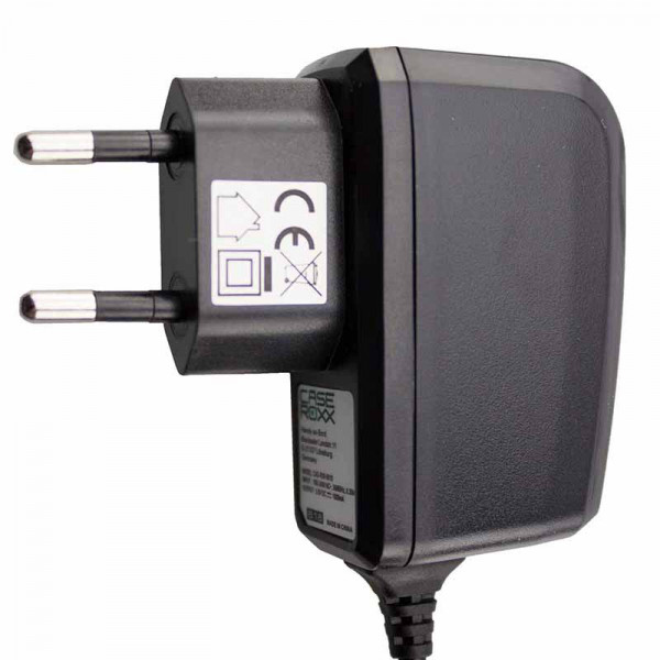 caseroxx charger Navigation device charger for Garmin,ZTE nüvi 750TFM, high quality charger with charger for charging (flexible, stable cable in black)