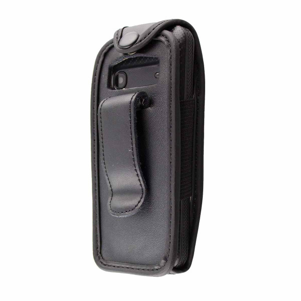 caseroxx Leather-Case with belt clip for AEG M1220 made of genuine leather, mobile phone cover in black