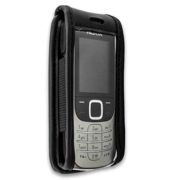 caseroxx Ledertasche mit Gürtelclip für Nokia 2323 und 2330 Classic aus Echtleder, Handyhülle für Gü