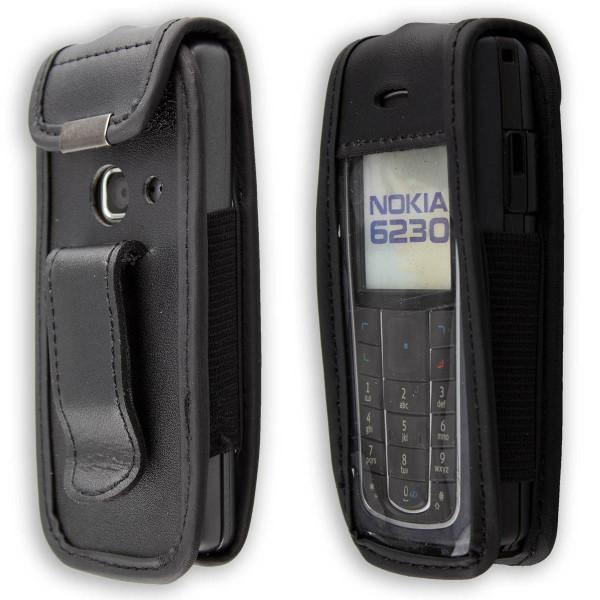 caseroxx Ledertasche mit Gürtelclip für Nokia 6230, 6230i aus Echtleder, Handyhülle für Gürtel (mit