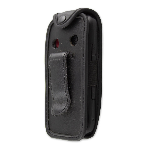 caseroxx Leather-Case with belt clip for Swisstone BBM 320C made of genuine leather, mobile phone cover in black