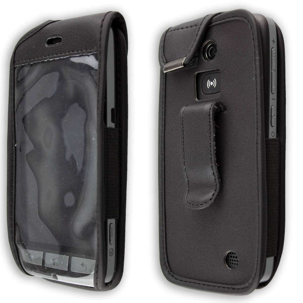 caseroxx Leather-Case with belt clip for Doro 8030 / 8031 made of genuine leather, mobile phone cover in black