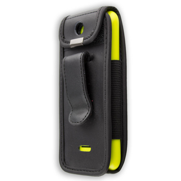 caseroxx Leather-Case with belt clip for Nokia 225 made of genuine leather, mobile phone cover in black