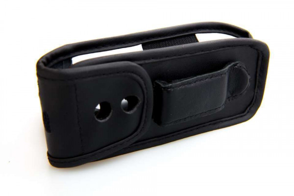 caseroxx Leather-Case with belt clip for Samsung GT-B2100 made of genuine leather, mobile phone cover in black