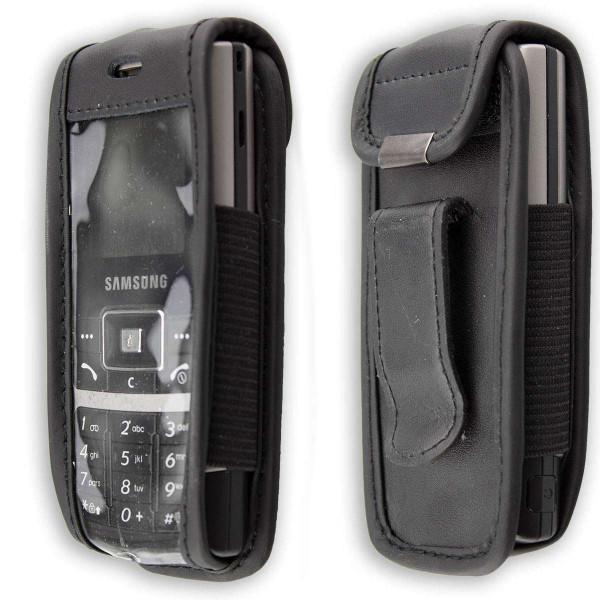 caseroxx Ledertasche mit Gürtelclip für Samsung SGH-C130 aus Echtleder, Handyhülle für Gürtel (mit S