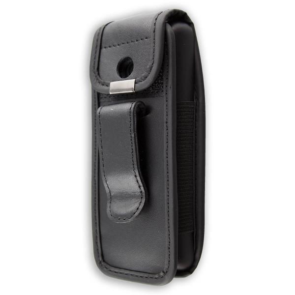 caseroxx Ledertasche mit Gürtelclip für Nokia 220 aus Kunstleder, Handyhülle für Gürtel (mit Sichtfe