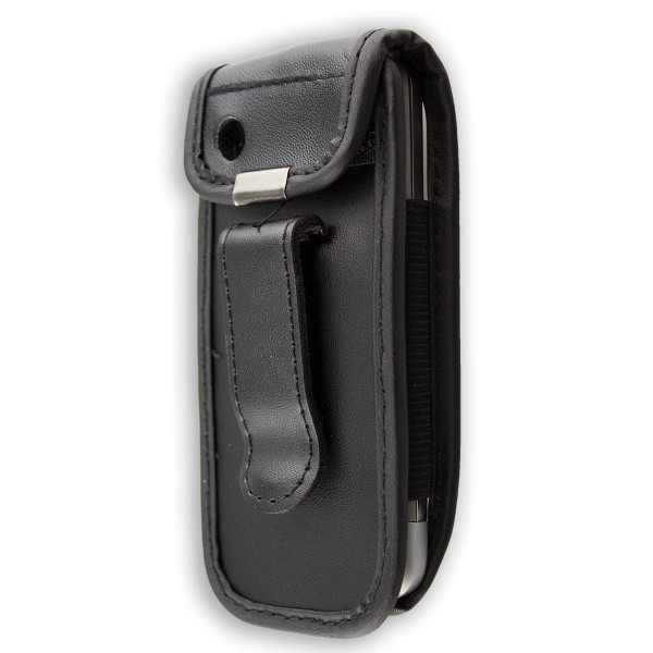 caseroxx Leather-Case with belt clip for Nokia C3-01 made of genuine leather, mobile phone cover in black