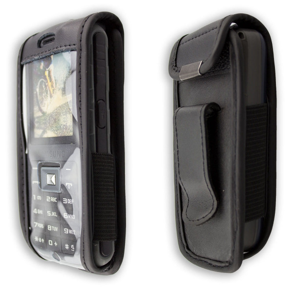 caseroxx Leather-Case with belt clip for Nokia 2700 und 2730 Classic made of genuine leather, mobile phone cover in black