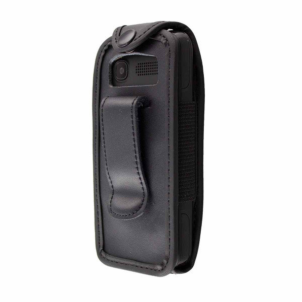 caseroxx Leather-Case with belt clip for Archos F18 made of genuine leather, mobile phone cover in black