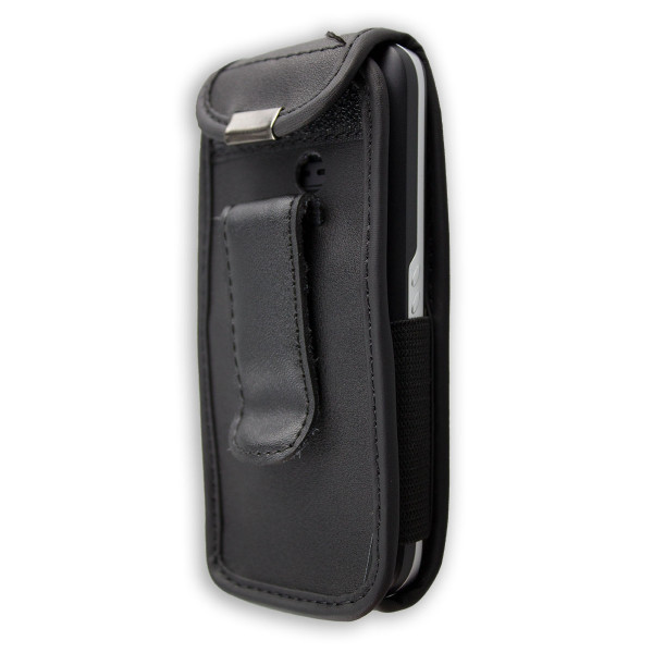 caseroxx Leather-Case with belt clip for Olympia 2204 Bravo made of genuine leather, mobile phone cover in black