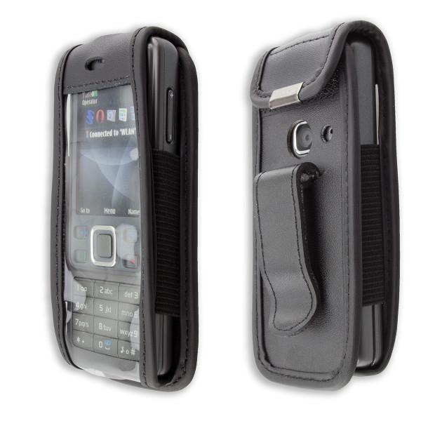 caseroxx Ledertasche mit Gürtelclip für Nokia 6300 aus Echtleder, Handyhülle für Gürtel (mit Sichtfe