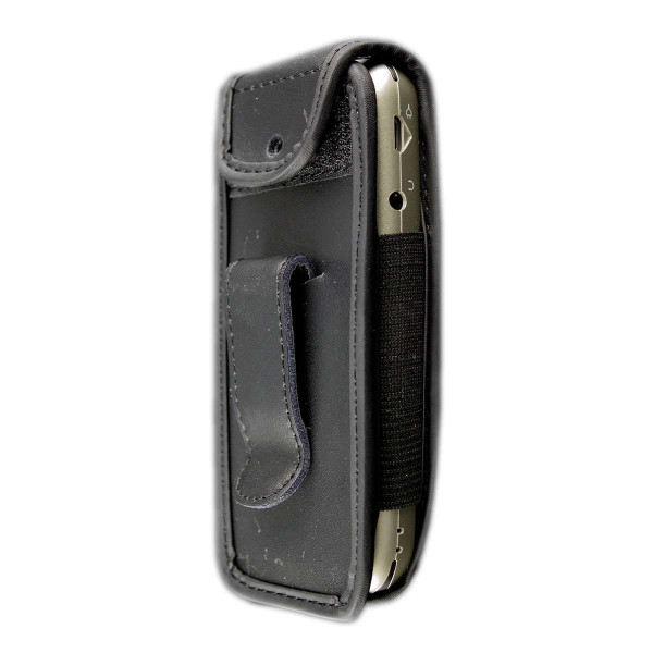 caseroxx Leather-Case with belt clip for Doro 5030 / 5031 made of genuine leather, mobile phone cover in black