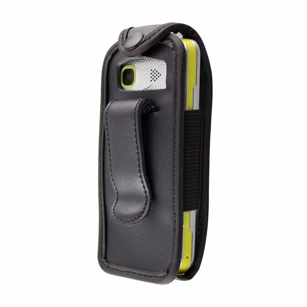 caseroxx Leather-Case with belt clip for TTFone TT130 made of genuine leather, mobile phone cover in black