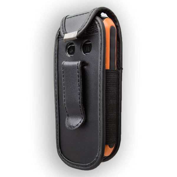 caseroxx Leather-Case with belt clip for Bea-fon AL550 made of genuine leather, mobile phone cover in black