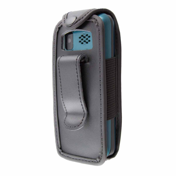 caseroxx Leather-Case with belt clip for Doro Primo 305 made of genuine leather, mobile phone cover in black